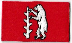 Warwickshire Embroidered Flag Patch, style 04